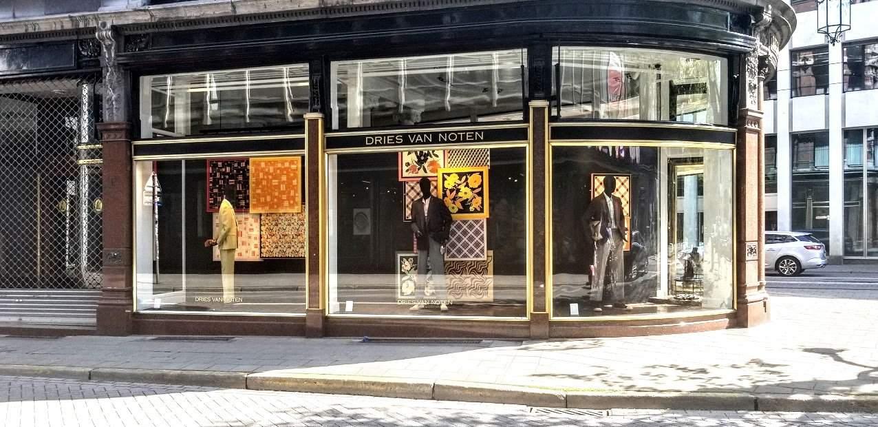 Dries Van Noten storefront in Antwerp