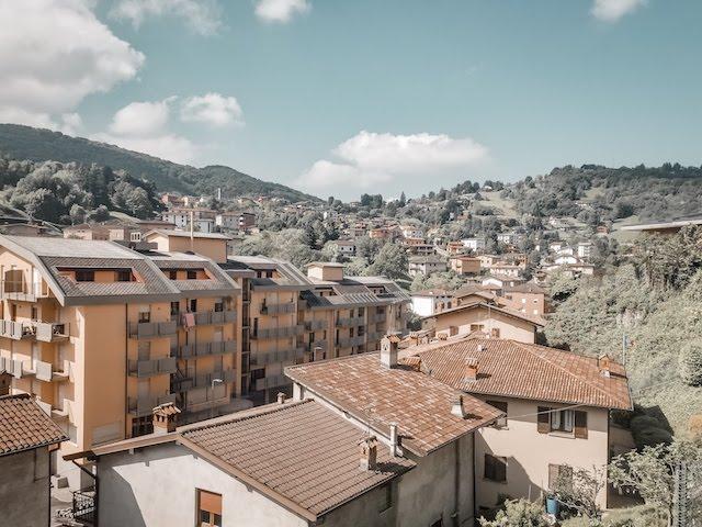 Bergamo view of rooftops scenic