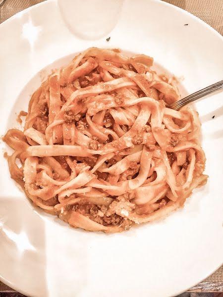 citta alta plate of spaghetti food