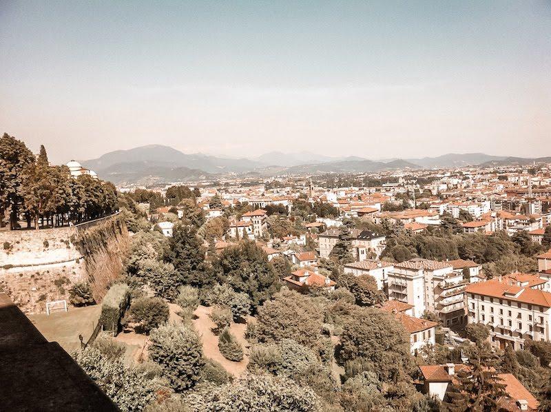 citta alta scenic view top