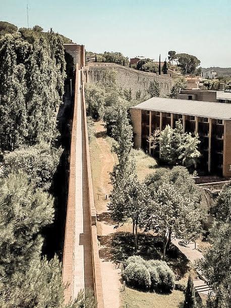 carolingian wall girona spain