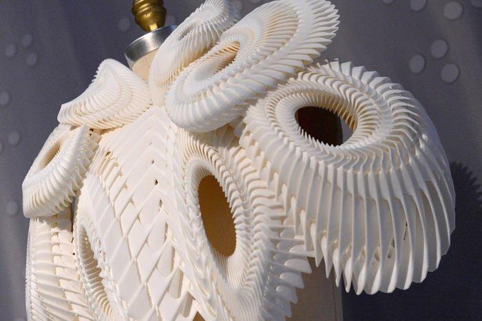 up close 3d printed dress