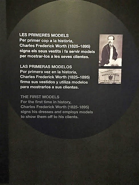 Charles Frederick Worth history board