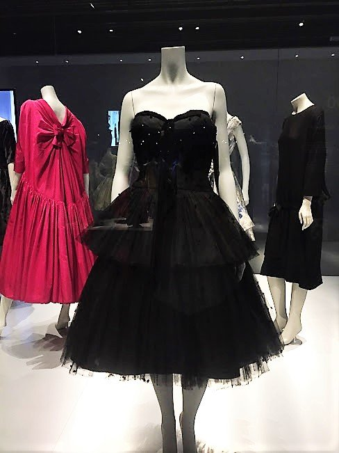 Design Museum, Barcelona black dress
