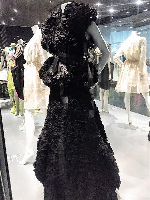 Design Museum, Barcelona long black dress