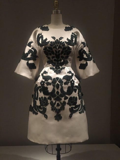 black and white kimono dress