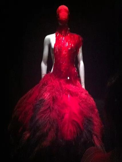 Savage Beauty red dress