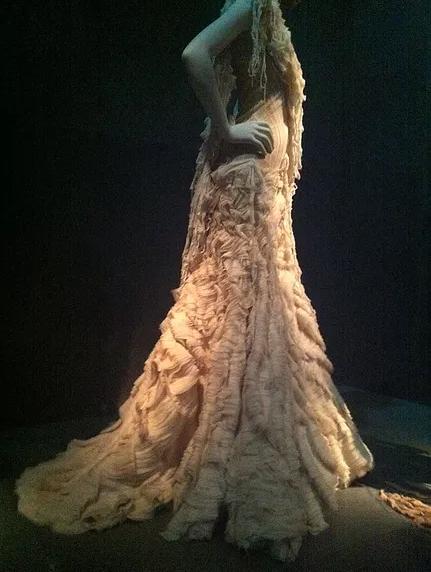 Savage Beauty cream dress