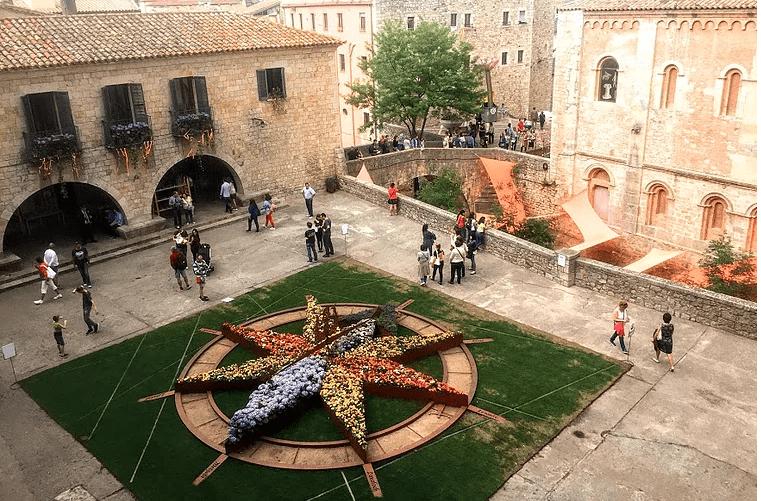 Girona, Spain square