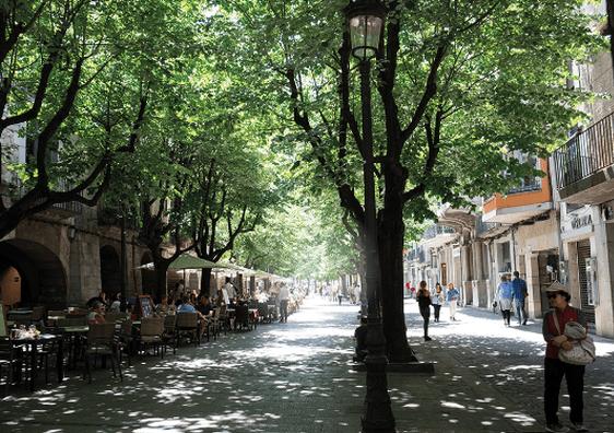 Girona, Spain / Rambla de la Libertad