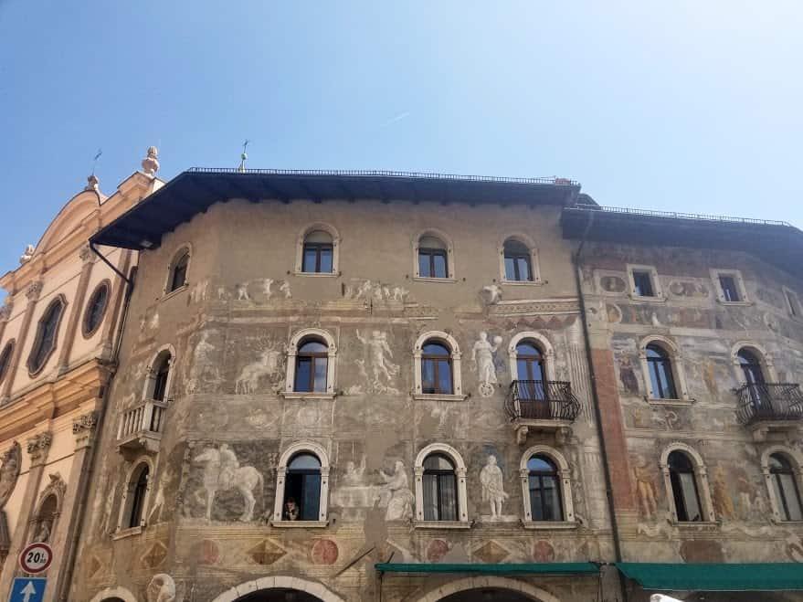 trento building fresco front